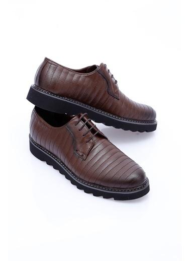Wessi %100 Deri Bağcıklı Ayakkabı Kahve